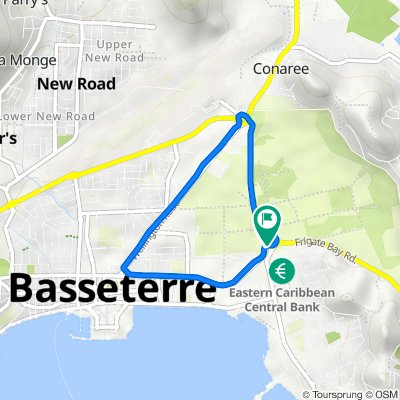 Saint Kitts and Nevis, Basseterre to Saint Kitts and Nevis, Basseterre
