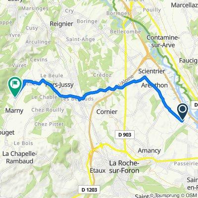 De 68F Chemin du Clos Scotti, Arenthon à 530 Route de la Collay, Pers-Jussy