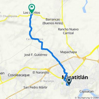Ruta desde Calle Altotonga 28, Minatitlán