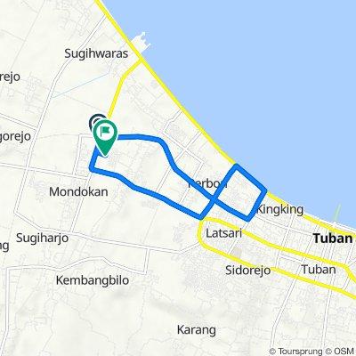 Jalan Soekarno Hatta 99, Kecamatan Merakurak to Jalan Lombok 4, Kecamatan Tuban