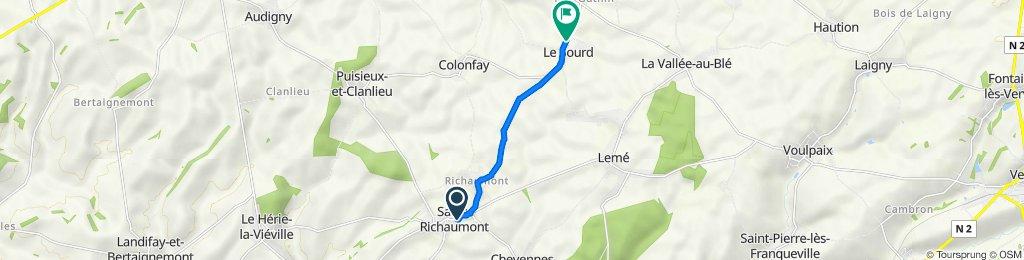 De Place des Prelets 14, Sains-Richaumont à Rue Principale 34, Le Sourd