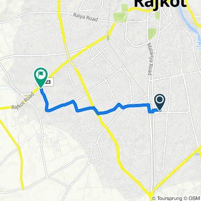 Route from 19, Gopal Nagar Main Road, Rajkot