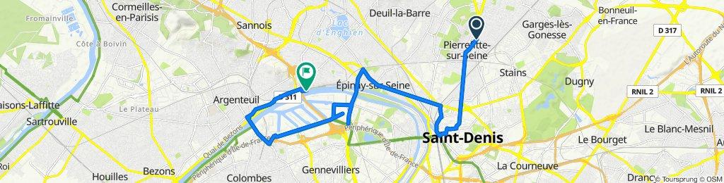 De 12 Boulevard Jean Mermoz, Pierrefitte-sur-Seine à 103–199 Quai Saint-Denis, Argenteuil