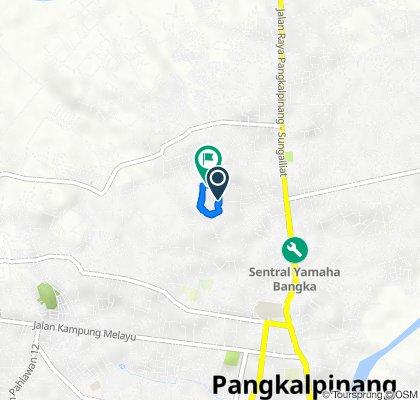 Jalan Abdullah H Seman 168, Kecamatan Gabek to Gang Lumba-Lumba IV, Kecamatan Gabek