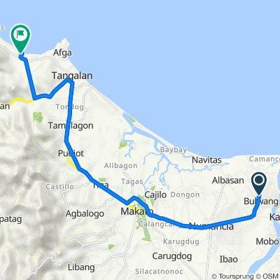 Sporty route in Tangalan