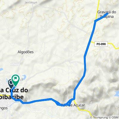 De Rua Biu de Deda, 539–597, Santa Cruz do Capibaribe a Estrada para Taquaritinga, Santa Cruz do Capibaribe