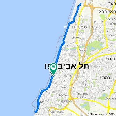 Ratzif Herbert Samuel Street 22, Tel Aviv-Yafo to Aharonson Street 7, Tel Aviv-Yafo