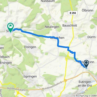 Heyersdorfer Weg 12, Kieselbronn nach Königsbacher Straße 26, Königsbach-Stein