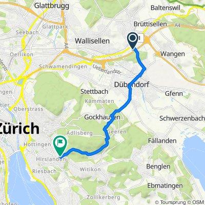 Industriestrasse 28, Dietlikon nach Klusweg 10, Zürich