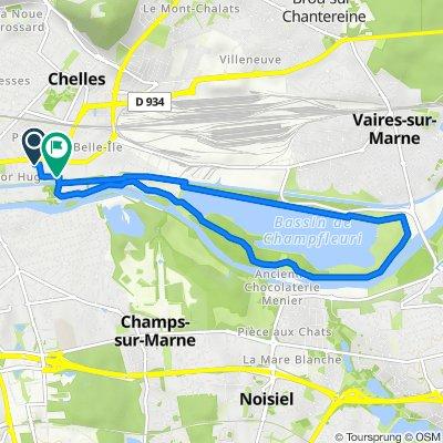 De 36 Rue du Chevalier Bayard, Chelles à 1bis Rue Victor Hugo, Chelles