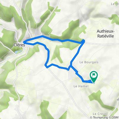 De 121 Chemin des Aubépines, Fontaine-le-Bourg à 121 Chemin des Aubépines, Fontaine-le-Bourg
