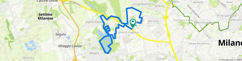 Da Via Val Pantena 16, Milano a Via Albenga 1a, Milano