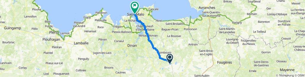 De 6 La Falurais, Dingé à 19 Rue Jacques Cartier, Saint-Malo