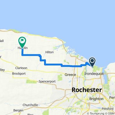 450 Oakridge Dr, Rochester to 1549 Lake Rd, Hamlin