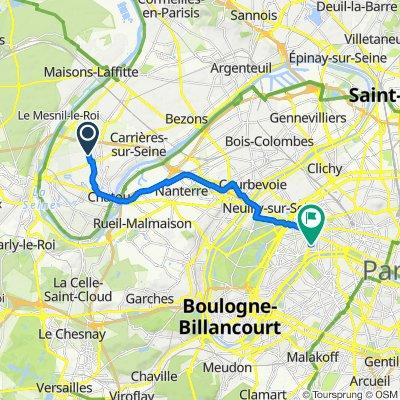 De 17 Rue Charles Constantin, Montesson à 22 Rue Georges Bizet, Paris