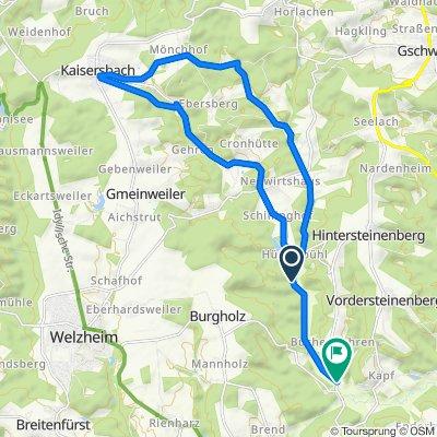 Alfdorf-Menzlmühle-Kaisersbach-Tour