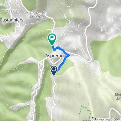 De 815 Route de Nice, Aspremont à 15 Place Saint-Claude, Aspremont