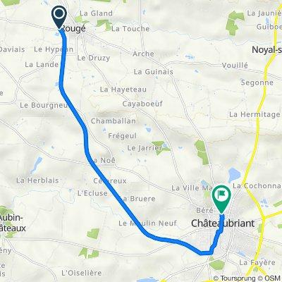 De Rue de la Gare, Rougé à 4 Rue Guy Môquet, Châteaubriant