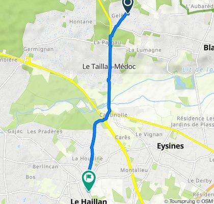 De 40G Chemin de Gelès, Le Taillan-Médoc à 27 Rue de Los Héros, Le Haillan