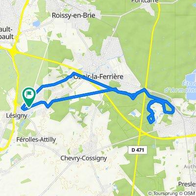De Avenue de Leingarten, Lésigny à Avenue de Leingarten, Lésigny