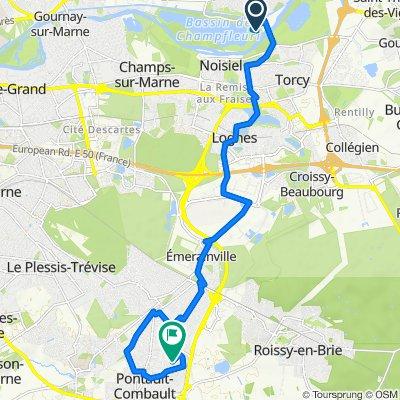Itinéraire vers 76 Rue des Berchères, Pontault-Combault