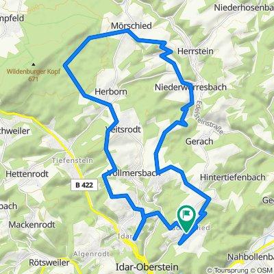 K37 48, Idar-Oberstein nach Göttschieder Straße 50, Idar-Oberstein