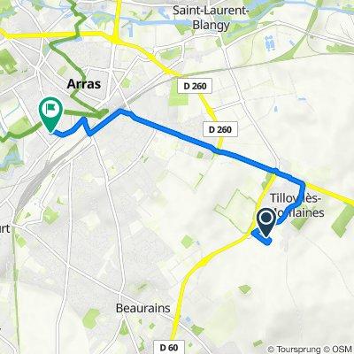 De 25 Rue du Château d'Eau, Tilloy-lès-Mofflaines à 18bis Rue Lamartine, Arras