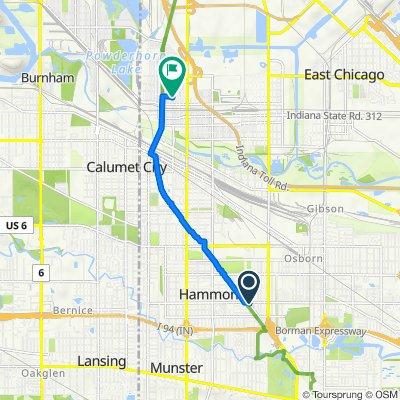 7322 Southeastern Ave, Hammond to 4340 Johnson Ave, Hammond