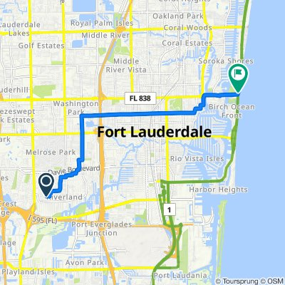 Southwest 22nd Street 3625, Fort Lauderdale to A1A/Sunrise B, Fort Lauderdale