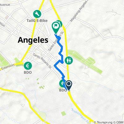 MacArthur Highway 191, Angeles to Natividad Street 529, Angeles