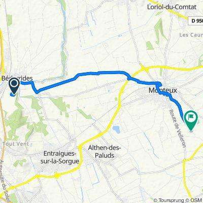 De allée des micocouliers 130, Bédarrides à Chemin de Saint-Hilaire 2328, Monteux