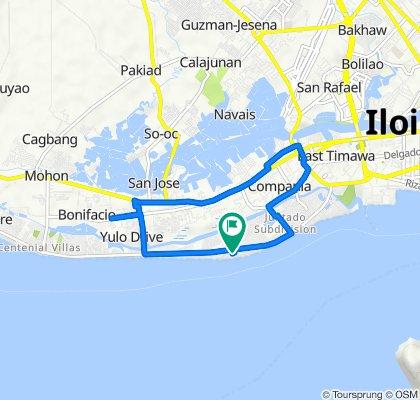Molo-Arevalo Bouleva Road, Iloilo City to Molo-Arevalo Bouleva Road, Iloilo City