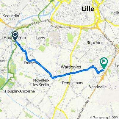 Itinéraire à partir de 109 Rue Léon Gambetta, Haubourdin