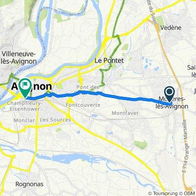 De 53 Impasse du Vallon, Morières-lès-Avignon à 10 Boulevard Saint-Roch, Avignon