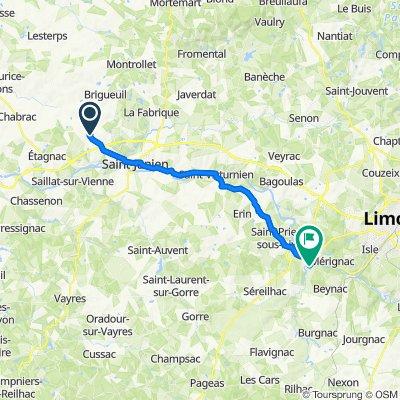 De 135 Route de Pressaleix le Mas, Saint-Junien à La Nèphle, Aixe-sur-Vienne