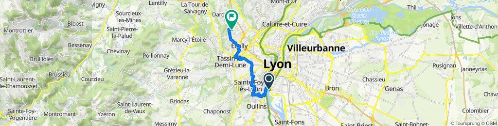 Itinéraire vers 10 Allée Chante-Alouette, Écully