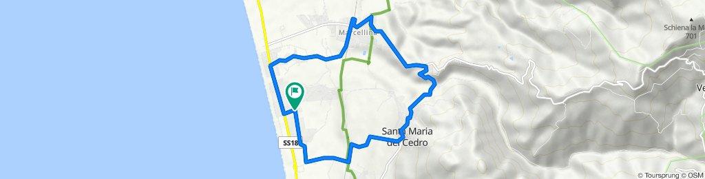 Da Via Statale 281, Marina di Santa Maria del Cedro a Via Statale 223, Marina di Santa Maria del Cedro
