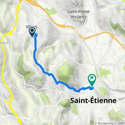 De 7 Allée des Tennis, Villars à 53 Rue Rouget de Lisle, Saint-Étienne