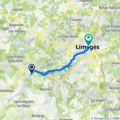 De 19 Avenue Jeanne Pichenaud, Aixe-sur-Vienne à 5 Place Maison Dieu, Limoges