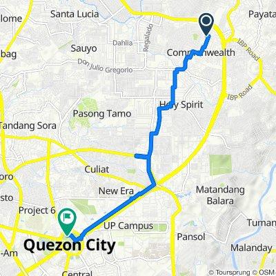 Eulogio Street 10, Quezon City to QMC Bicycle Track, Quezon City
