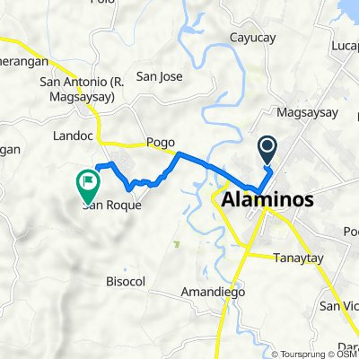 Route from Chicago, Alaminos City