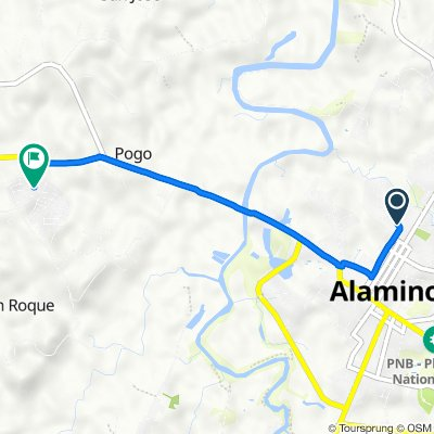 Route from F. Braganza Street, Alaminos City