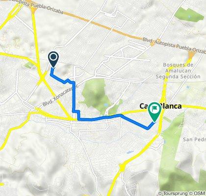 De Calle Antiguo Camino A Manzanilla 982, Heróica Puebla De Zaragoza a Avenida De Las Torres 194, Casa Blanca