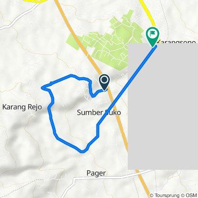 Jalan Makam Cina, Purwosari to Jalan Dahlia 45, Kecamatan Sukorejo