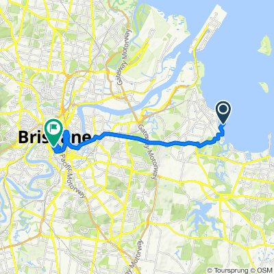 Davenport Drive, Manly to Stanley Street 410, South Brisbane