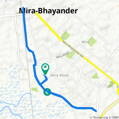 C-30, Shrimad Buddhisagar Suriswarji Maharaj Marg, Sector 3, Mira Bhayandar to B-50, Shree Nakoda Bhairav Marg, Sector 3, Mira Bhayandar