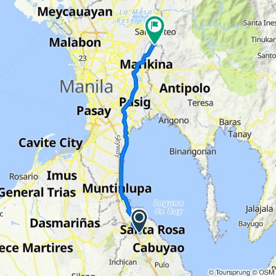 Unnamed Road, Biñan to Saint Benedict 21, Marikina