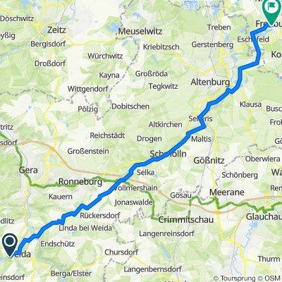 Forstweg 31, Weida nach K7990 56, Frohburg