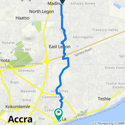 Ashale Botwe Nmai Dzorn Road, Madina to La Road, Accra