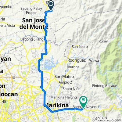 Unnamed Road, San Jose del Monte City to COGEO Avenue 107, Antipolo